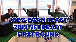 Reaction to 2019 NFL Draft First round - Joe & Evan