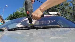 Как убрать царапины с лобового стекла авто своими руками, шлифовка и полировка