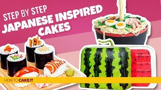 3 JAPANESE Inspired Cakes! | Compilation | How To Cake It