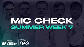 Kia #LEC Mic Check: Week 7 (Summer 2020)