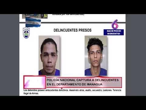 Policía presenta a cabecillas de los tranques de Rubenia y Jinotepe