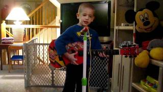4 year old sings Jessie's Girl by Rick Springfield