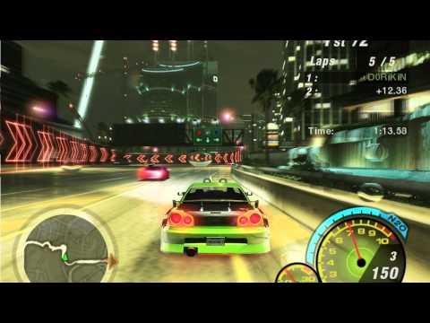 NFSU2 - Final Race & Ending Cutscenes - игровое видео