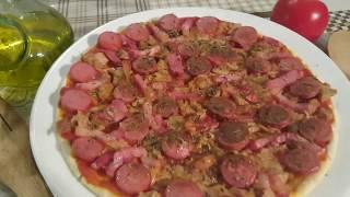Como hacer pizza casera en el microondas - Fácil y rápido || cocina con rock
