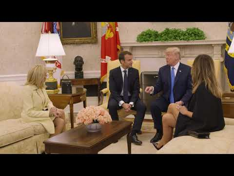 The Arrival of the President of France and Mrs. Macron to the White House
