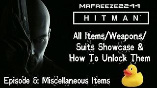 HITMAN Inventory Showcase Episode 6 - Miscellaneous Items