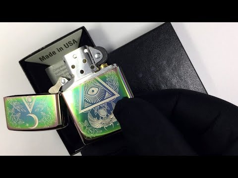 49061 Зажигалка Zippo Eye of Providence, Spectrum High Polish