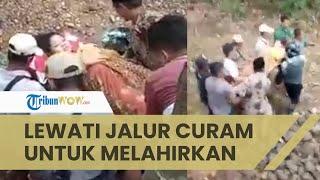 Viral Video Ibu Hamil di Jember Hendak Melahirkan, Harus Ditandu Warga Lewati Jalur Curam