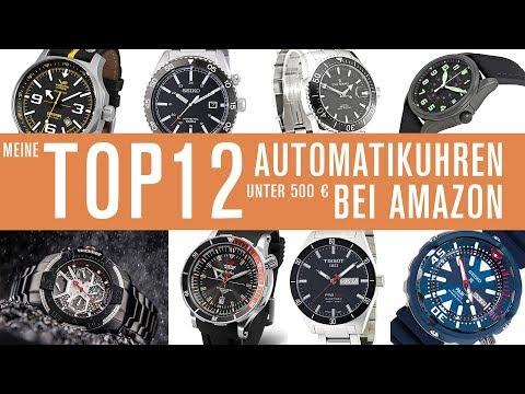 Automatik - Uhren unter 500 € bei Amazon - meine Top12
