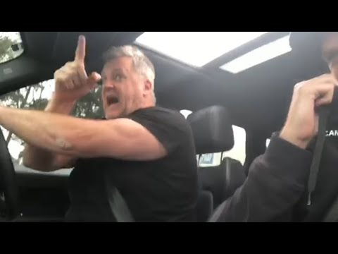 Liquid ass in car with dad