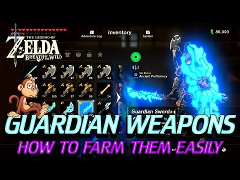 Zelda: Breath of the Wild - Guardian Weapon Farming (All Test of