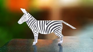 Fun Crafts for Kids - How to Make a Paper ZEBRA Crafts | Easy Kids Craft