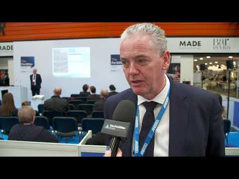 Projects Sales Manager, Mike Estall at theFacilities Event 2019