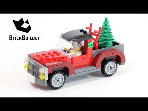 Vidéo LEGO Saisonnier 40083 : Le camion de transport de sapins de Noël