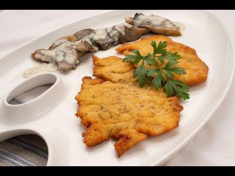 Filetes de pavo empanados con setas al Roquefort - Karlos Arguiñano en tu cocina