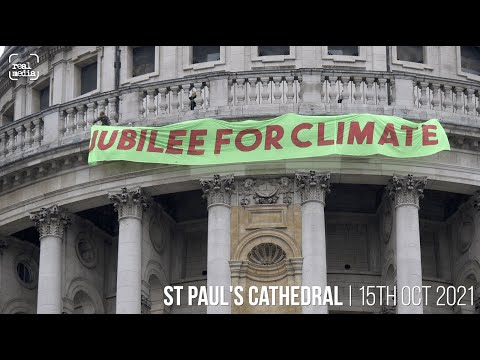 Jubilee for Climate - banner action at St Paul's
