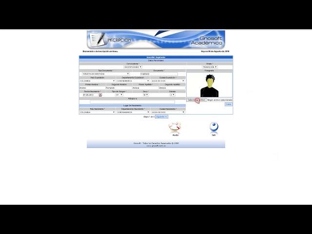 Inscripción en Linea - Acudiente