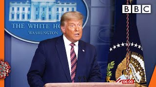 Trump repeats voting fraud claims without evidence 🇺🇸 US Election @BBC News live - BBC