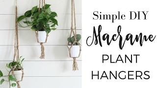 Simple DIY Macrame Plant Hangers