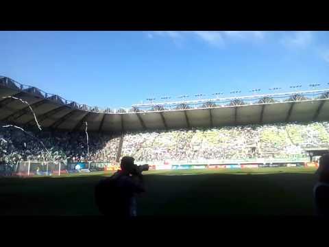 """""""Salida Deportes Temuco vs Deportes la Serena (Desde la cancha)"""" Barra: Los Devotos • Club: Deportes Temuco"""