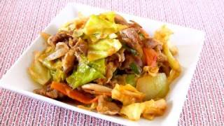 Ketchup Miso Stir-Fried Pork and Cabbage (Recipe) ????????????????