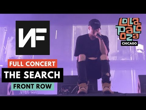 "NF *FULL* LOLLA CONCERT - ""THE SEARCH"" SONGS LIVE *DEBUT* - 8/2/2019 CHICAGO"