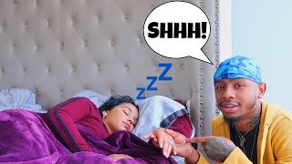 Putting An Engagement Ring On My Girlfriend While She's Asleep... *Emotional*