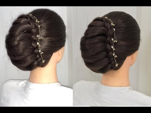 Download Beautiful French Bun Hairstyle For Wedding Or Party