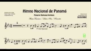 National Anthem of Panama Sheet Music for Flute and Recorder Himno Istmeño