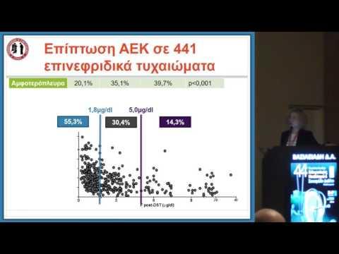 Βασιλειάδη Δ. - Αναδρομική μελέτη της συχνότητας αυτόνομης έκκρισης κορτιζόλης και των συνοσηροτήτων
