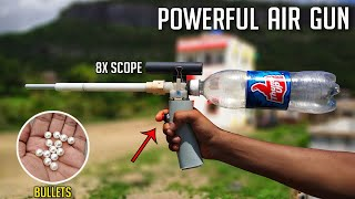 How To Make Powerful Air Gun at Home  [NEW MODEL]