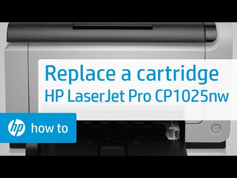 Replacing a Cartridge | HP LaserJet Pro CP1025nw Color Printer | HP