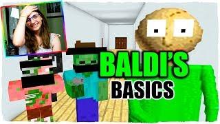 ¡LA ESCUELA DE BALDI'S BASICS EN MINECRAFT! - ANIMACIÓN ESCUELA DE MONSTRUOS (VIDEO REACCIÓN)