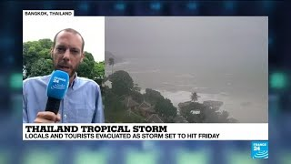 Thailand Tropical storm: Locals and tourists evacuated as storm set to hit