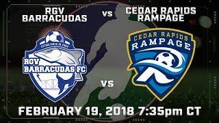 RGV Barracudas vs Cedar Rapids Rampage | Kholo.pk