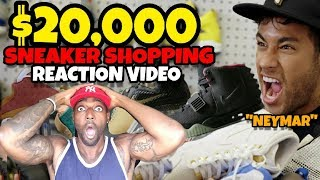 OMG NEYMAR SPENT $20,000 ON SNEAKERS AT FLIGHT CLUB REACTION VIDEO