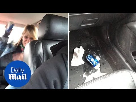 Customer throws beer can at Uber driver after  refusing to leave car  f5cc0ba953d