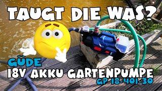 Güde 18V Akku Gartenpumpe GP 18-401-30