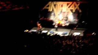 "ANTHRAX ""Metal thrashing mad"",chile 2010  We're the best crowd in the fucking world!!"