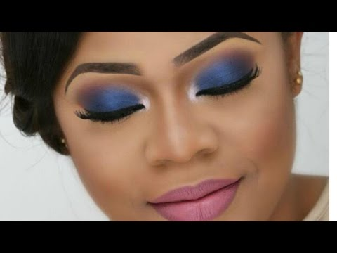 BRIDAL MAKEUP TUTORIAL/WEDDING MAKEUP  (COLOURFUL BRIDE ,BLUE SMOKEY ) |THE BEAUTICIANCHIC