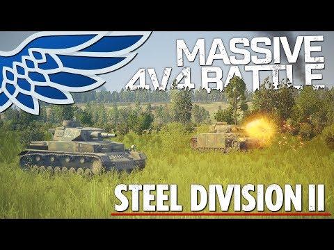 STEEL DIVISION 2 BETA 2 | Massive 4v4 Battle - Steel Division 2 Beta Let's Play Gameplay