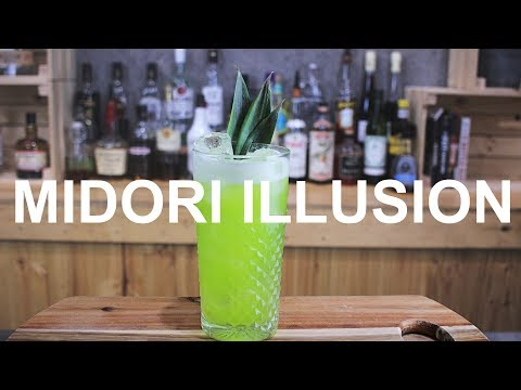 Midori Illusion Cocktail Recipe – BUILT or SHAKEN?