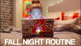 Fall Night Routine 2017