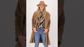 Vorschau: Oversize Fake Fur Mantel mit Reverskragen