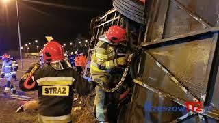 Wypadek ukraińskiego autobusu A4 w pobliżu MOP Kaszyce
