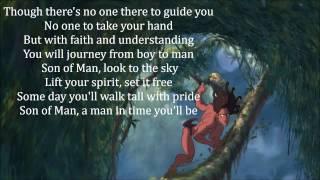 "Son of Man (w/ lyrics) From Disney's ""Tarzan"""