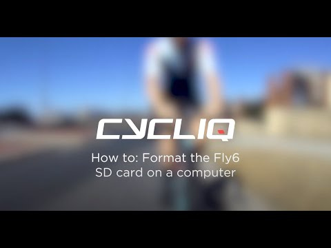 How to format your Fly6 on a computer
