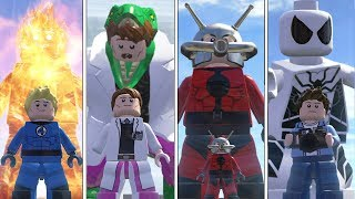 Lizard(Transformation),HumanTorch,Spidetrman(F.F),Antman - Lego Marvel Super Heroes Game