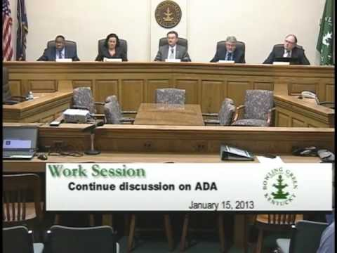 1/15/13 Board of Commissioners Work Session