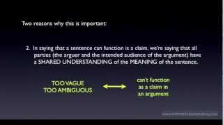 What is a Claim, Statement, or Proposition?